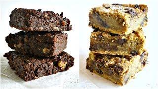 VEGAN  & SANS GLUTEN  : Deux recettes de Brownies (Avoine et Pois chiches)