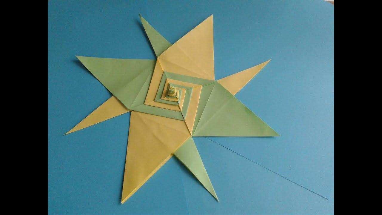 Christmas origami instructions hex star maria sinayskaya youtube - How To Make A Paper Star Origami Star Spiral Version Maria Sinayskaya Youtube