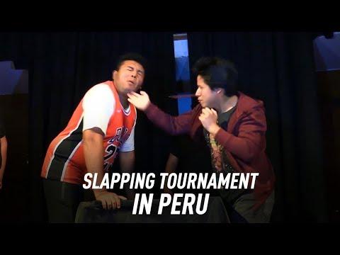 Russian slapping championship in Peru!