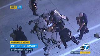RAW: Police chase suspect through L.A. I ABC7