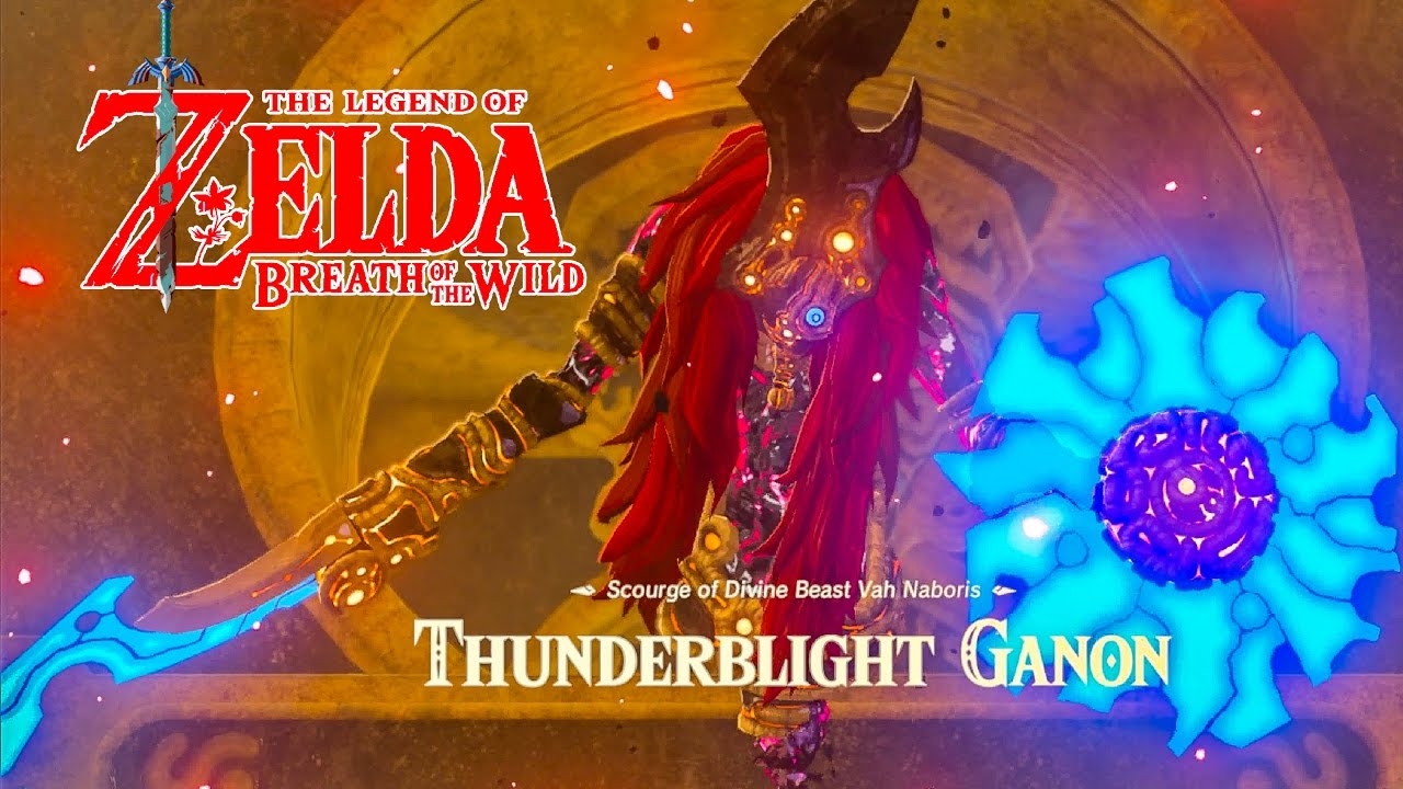 How To Defeat Thunderblight Ganon Divine Beast Vah Naboris Zelda Breath Of The Wild Switch