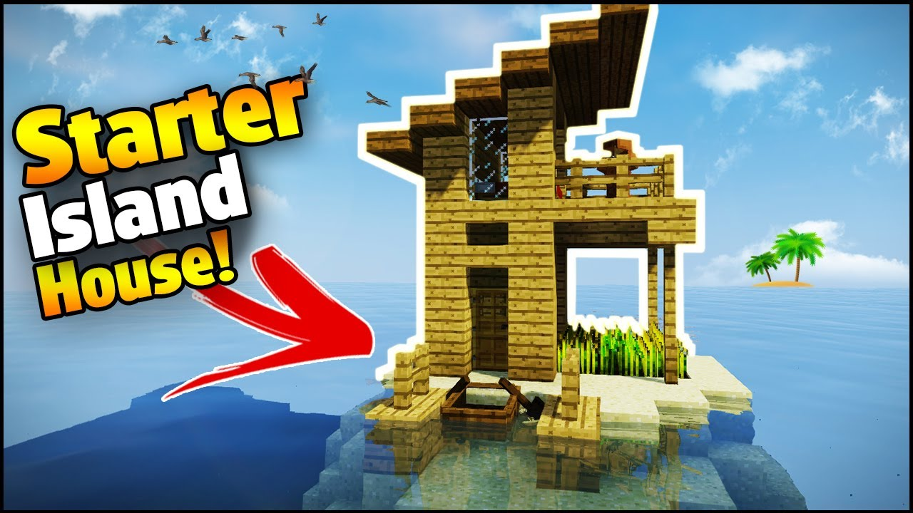 Minecraft island starter house tutorial how to build a for How to build my house