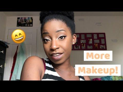 im back with more makeup white cut crease on dark skin
