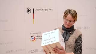 #CSRhumanitär | VertreterInnen des Auswärtigen Amtes zum Dialogforum in Frankfurt