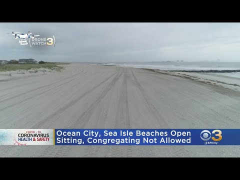 Beaches In Sea Isle City, Ocean City, Upper Township Open For Recreational Activities