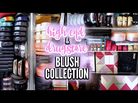 MAKEUP COLLECTION 2017 | High End & Drugstore Blushes / Blush Palettes ♡ Deanna Borocz