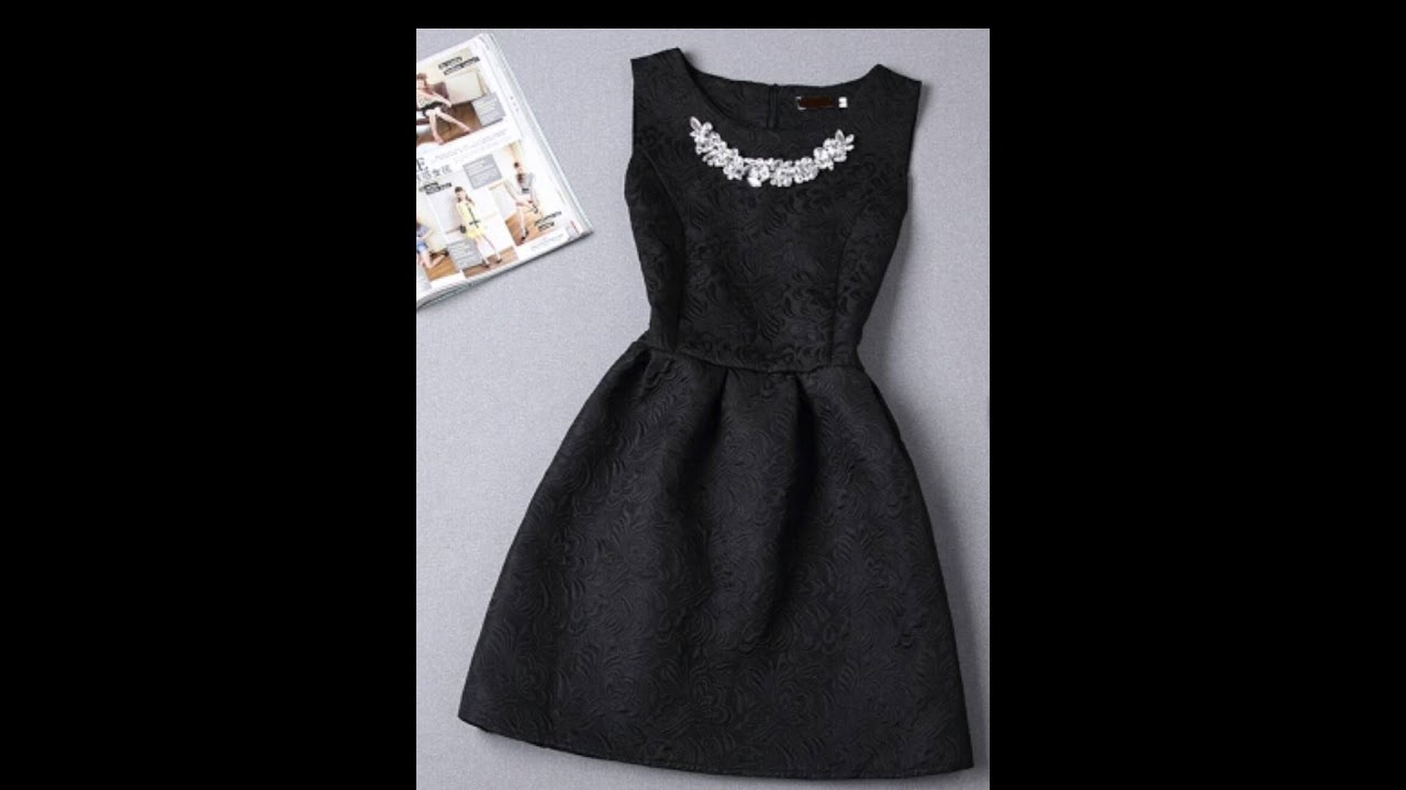 Black and grey panel dress with princess