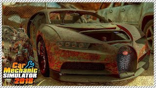 Ultra Rare Abandoned Bugatti Chiron - Car Mechanic Simulator 2018 | Ep. 16