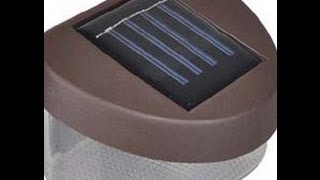 Powered Wall Stairway Mount Garden Cool Fence Light Lamp B20e Blue Led Solar: Ebay Reviews