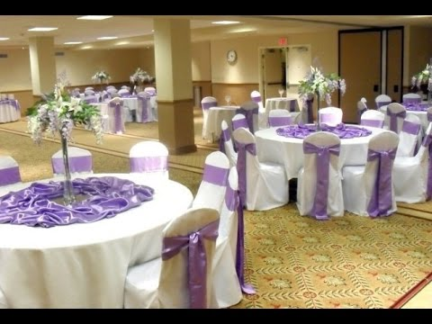 Lilac And White Wedding Decor Youtube