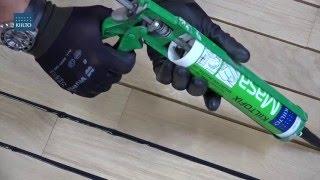 видео заделка швов в деревянном полу