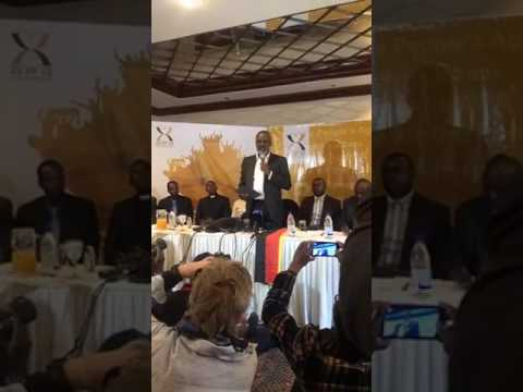 Dr Nkosana Moyo launches APA in the capital Harare Zimbabwe