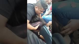 Arrojan a LADY SHANI hacía el publico.... Lucha Libre AAA en Uriangato, Gto. 30/Sep/2018
