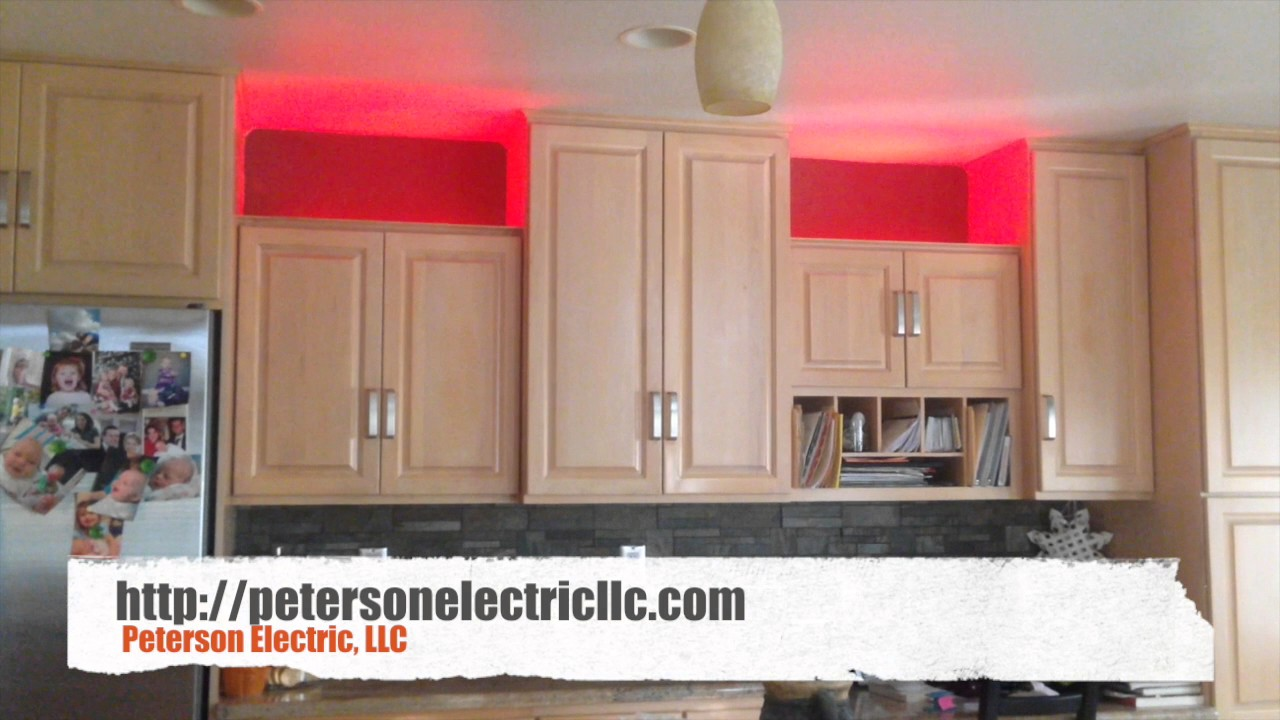 Installed Accent Led Strip Lights On Kitchen Cabinets Youtube