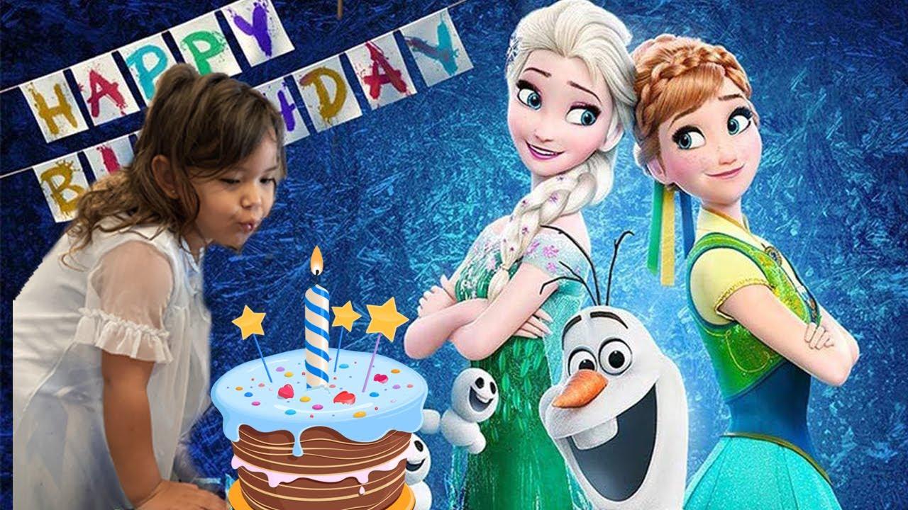 Um Café da manhã com as princesas Ana e Elsa Frozen