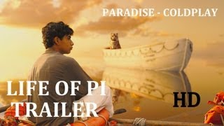 life of pi official trailer 2 2012 hd paradise by coldplay   sigur ros   ang lee irrfan khan