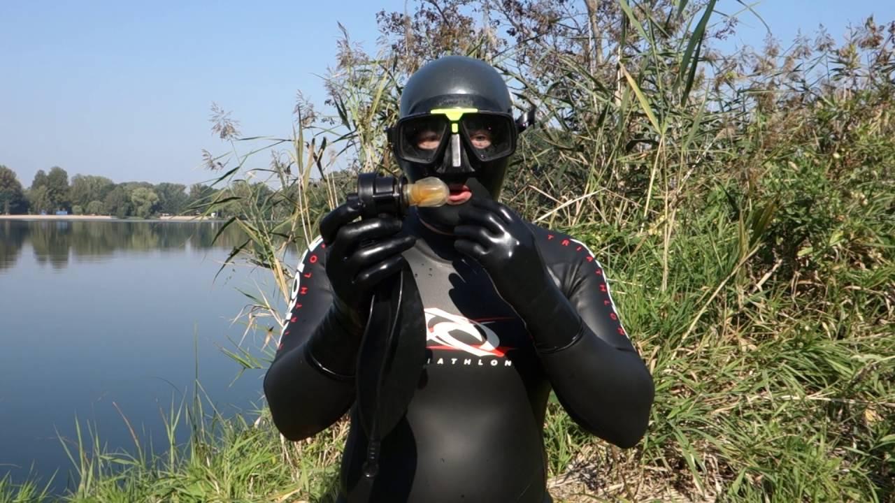 scuba mask rebreathing bag - YouTube