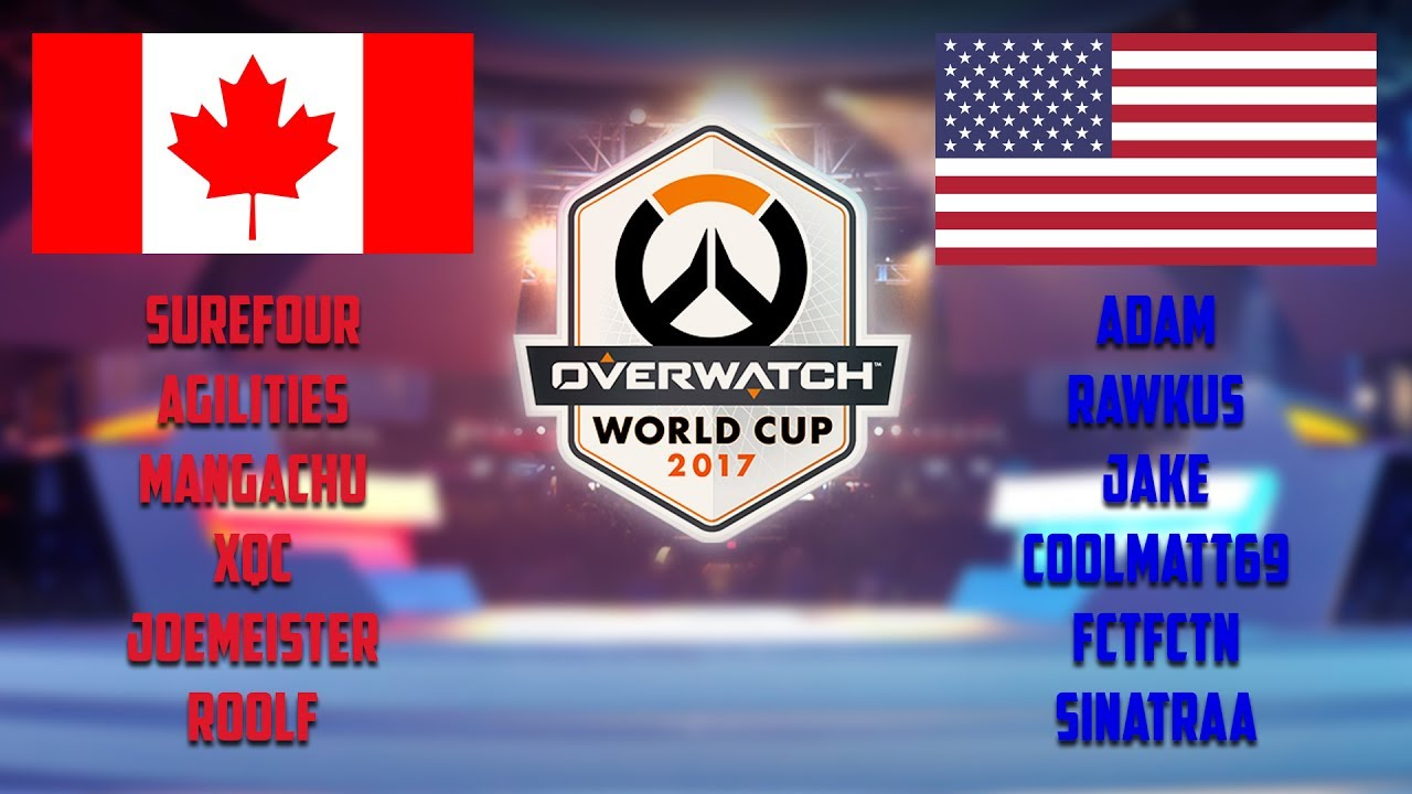 Team USA Vs Team Canada Overwatch Twitch Esports Arena