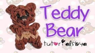 Teddy Bear Charm/Figurine Rainbow Loom Tutorial