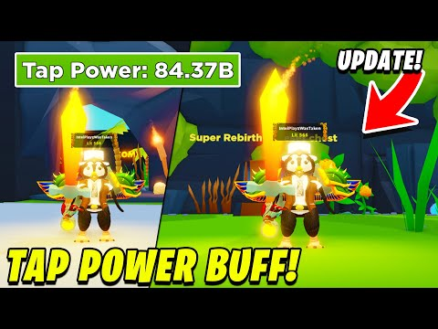THIS UPDATE WILL HELP YOUR TAP POWER A TON! | Tapping Simulator