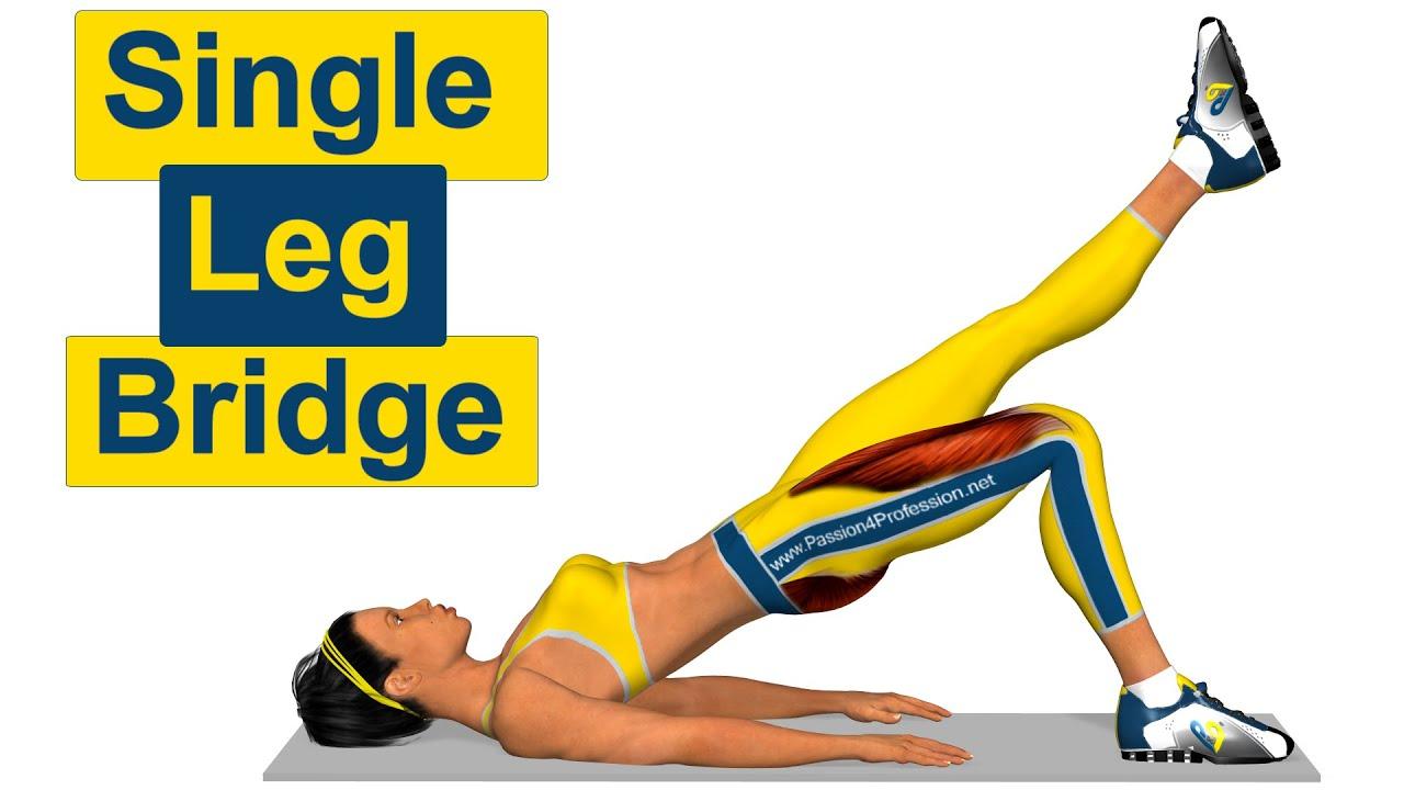 Image result for Single-Leg Bridge