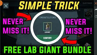 How to Get Lab Giant bundle for Free using simple trick // tips and tricks to get hulk bundle