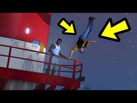 WHAT HAPPENS IF YOU DROP MICHAEL IN 0 GRAVITY? (GTA 5)
