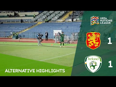 ALTERNATIVE HIGHLIGHTS | Bulgaria 1-1 Ireland | International Football Behind-Closed-Doors