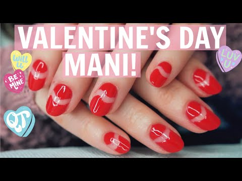 Valentine's Day Inspired Negative-Space Manicure!