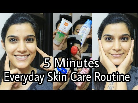 5 Minutes Everyday Skin Care Routine | Indian skin care Routine  | Super Easy| Morning / Night
