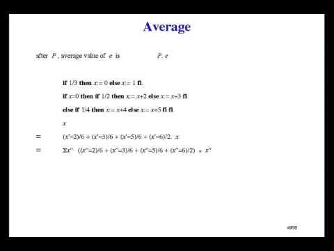 Formal Methods of Software Design - Probabilistic Programming [20/33]