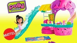 Polly Pocket Lanchonete Parque Aquático com Crissy Mattel em Português - Toys BR