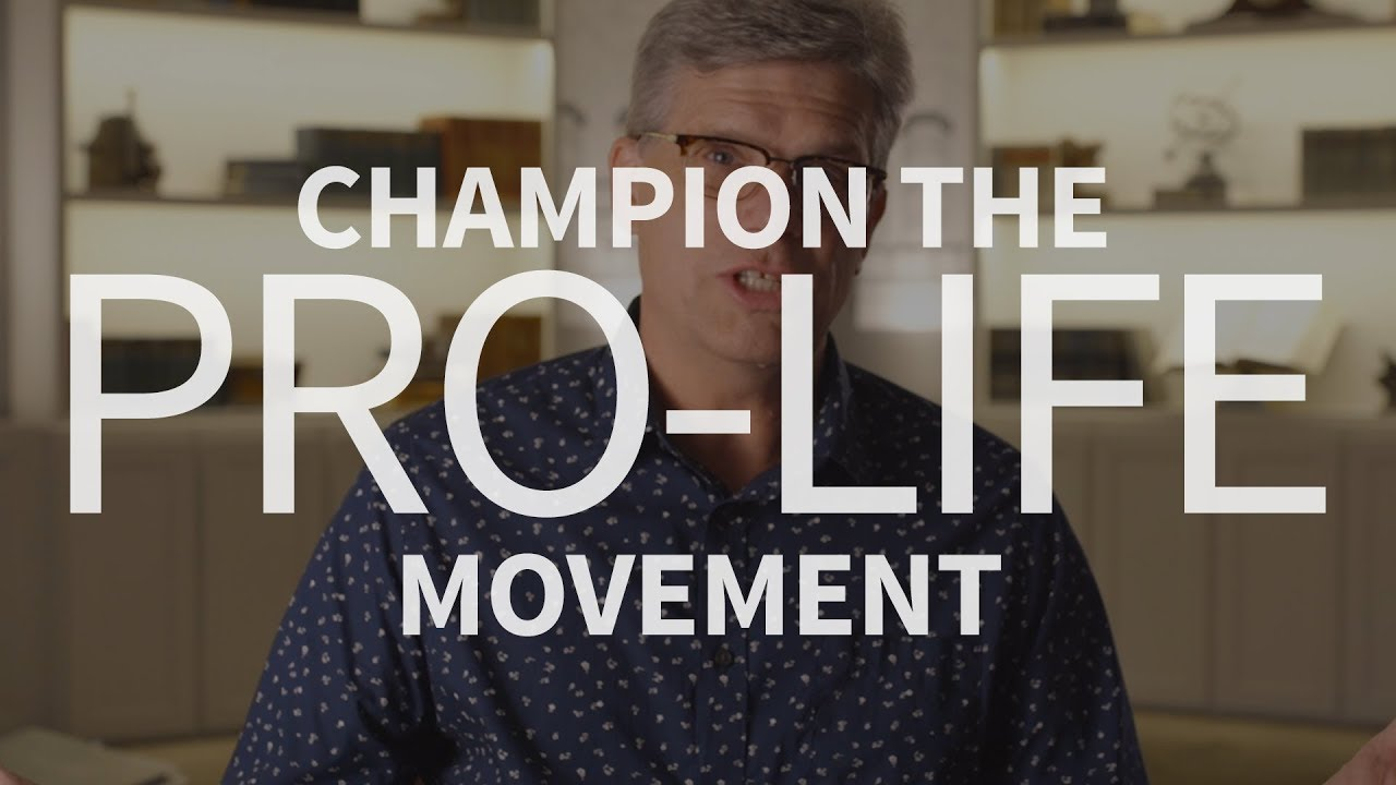 How can Christians champion the pro-life movement?