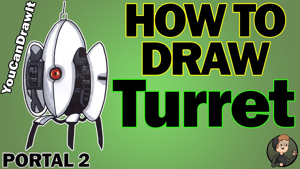 How To Draw Turret From Portal 2 Youcandrawit ツ 1080p Hd