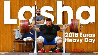 "Lasha Talakhadze ""Heavy"" Training (200kg Snatch!) before 2018 European Championships"