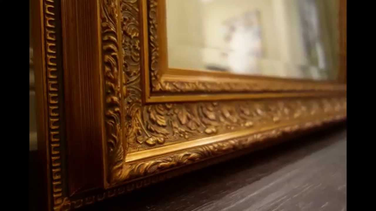 West frames elegance ornate embossed antique gold floor for Gold frame floor mirror