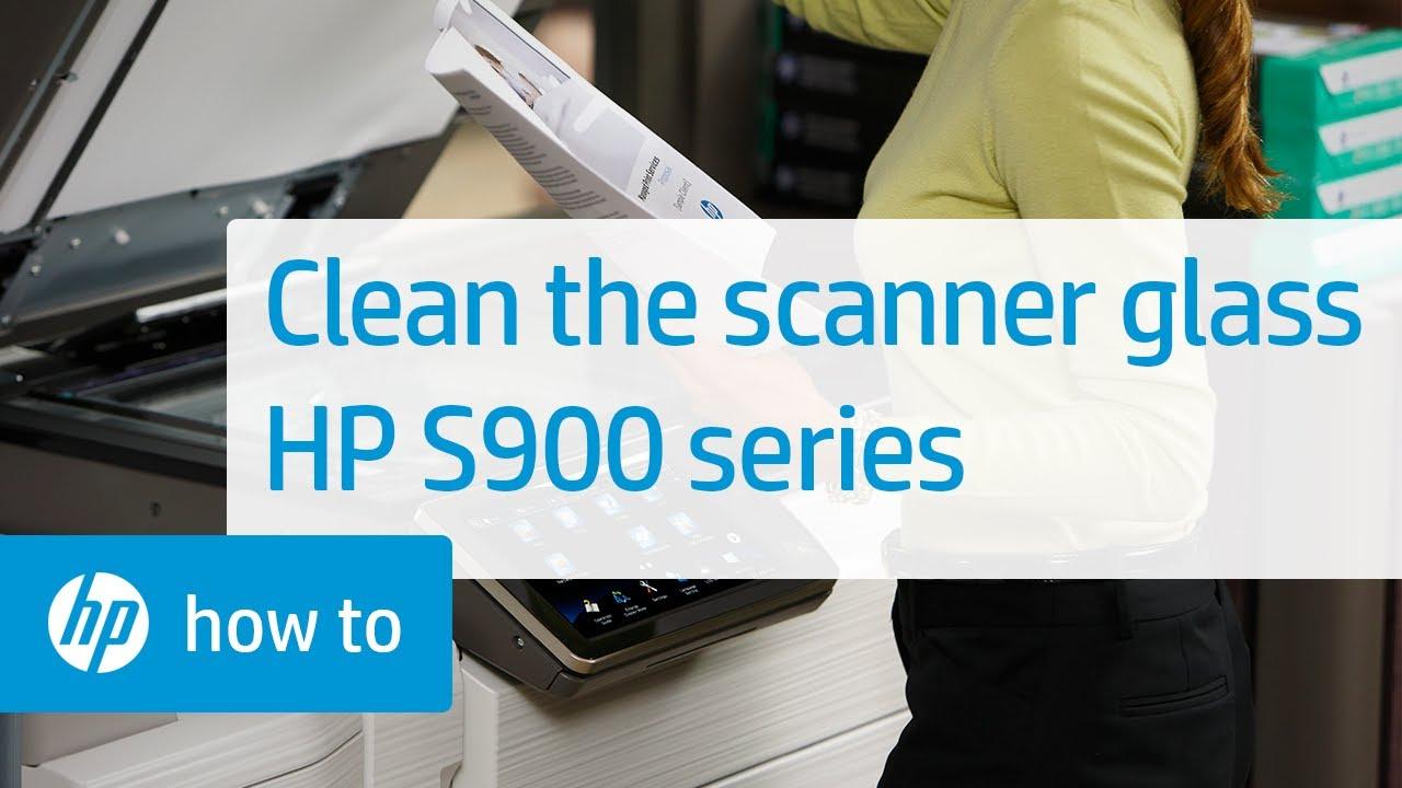 Cleaning the Scanner Glass on HP S900 Series Multifunction