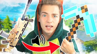 FORTNITE mit MINECRAFT SOUNDS! | Fortnite