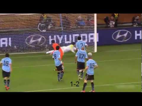 Semi-Finals - Uruguay vs Netherlands (2-3) - Highlights (06/7/2010)