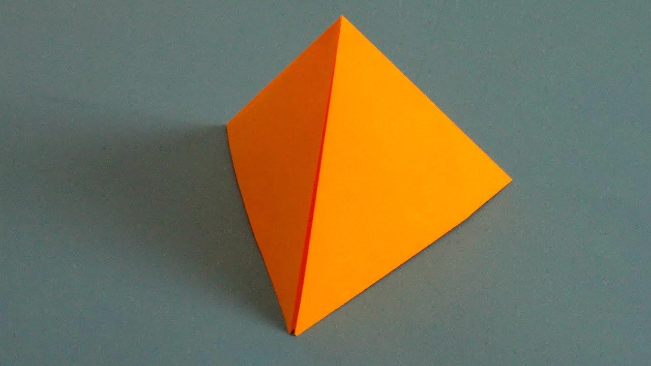 Как сделать треугольник из картона