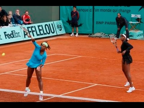 Serena/Venus vs Radwanska/Kirilenko 2010 RG Highlights