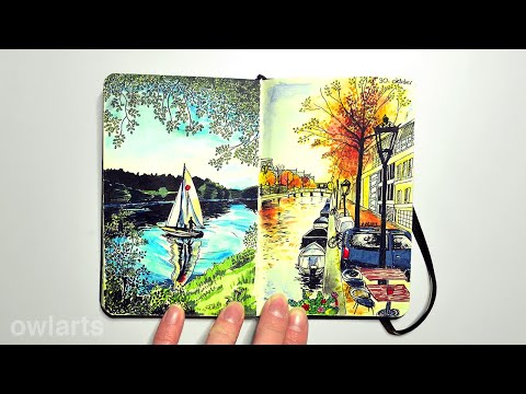 Completed Moleskine Sketchbook
