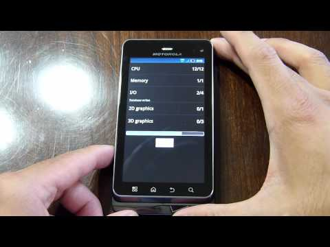 Motorola DROID 3 benchmark tests