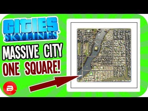 ONE SQUARE City! NO ESCAPE!! (Cities: Skylines Single Square Challenge)