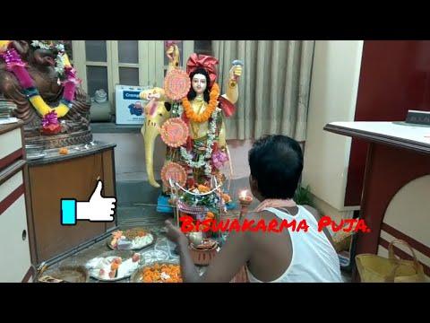 Vishwakarma Puja And Vishwakarma Puja Mantra🌴🌹🌷💐, humare center mein.