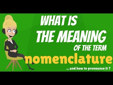 What is NOMENCLATURE? What does NOMENCLATURE mean? NOMENCLATURE meaning & explanation