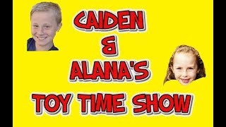 CAIDEN & ALANA'S TOY TIME SHOW - (Ep. 1) SHARK BITE GAME