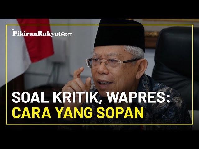 Wapres Maruf Amin Ajak Masyarakat Sampaikan Kritik dengan Sopan Tanpa Harus Sakiti Orang Lain