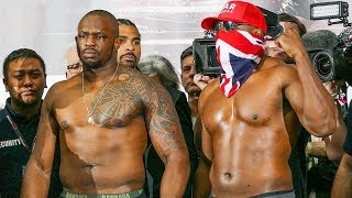 dereck-chisora-vs-dillian-whyte-full-weigh-in-face-off-matchroom-boxing