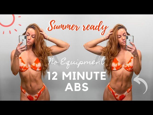 12 MINUTE AB WORKOUT | FOLLOW ALONG, NO EQUIPMENT